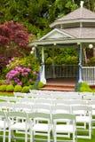 Ślubny Miejsce wydarzenia i Krzesła zdjęcia stock