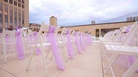Ślubny nawa wystrój ceremonia poślubiać target1640_1_ z bliska zbiory wideo