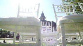 Ślubny nawa wystrój krzesła target2411_1_ biel plenerowy zdjęcie wideo