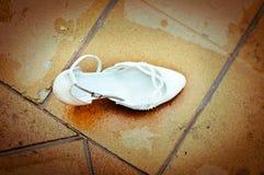 Ślubny obuwiany Sinderella Zdjęcia Royalty Free