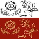 Ślubny ornament ilustracja wektor