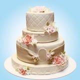 Ślubny piękny tort Fotografia Royalty Free