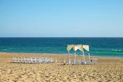 Ślubny przygotowanie na plaży fotografia stock