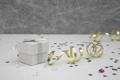 Ślubny przysługi pudełko Obrazy Stock