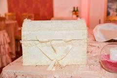 Ślubny pudełko Fotografia Royalty Free