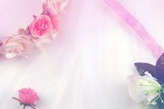 Ślubny romantyczny pastelowy tło obraz stock