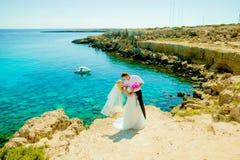 Ślubny sesja zdjęciowa. Fotografia Stock
