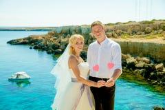 Ślubny sesja zdjęciowa. Zdjęcie Royalty Free