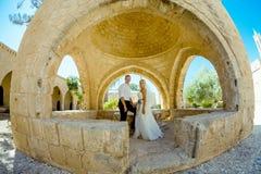 Ślubny sesja zdjęciowa. Fotografia Royalty Free