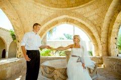 Ślubny sesja zdjęciowa. Obrazy Royalty Free