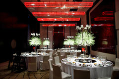 Ślubny stół Zdjęcie Royalty Free