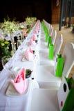 Ślubny stół Obrazy Royalty Free