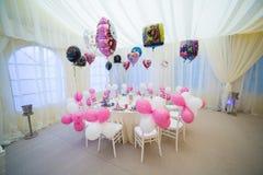 Ślubny stół dla dzieci Obraz Royalty Free