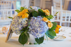 Ślubny stołowy centerpeice Zdjęcia Royalty Free