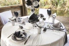 Ślubny stołowy położenie 10 Zdjęcie Stock