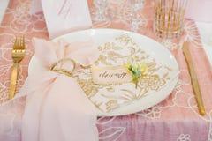 Ślubny stołowy położenie Obrazy Royalty Free