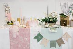 Ślubny stołowy położenie Obraz Stock