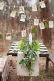 Ślubny stołowy położenie Zdjęcia Royalty Free