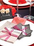 Ślubny stołowy ustawianie Zdjęcia Stock