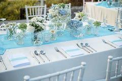 Ślubny stołowy ustawianie zdjęcie stock