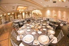 Ślubny stołowy wystrój zdjęcia royalty free