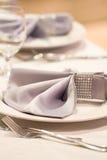 Ślubny stołowy wystrój Zdjęcie Stock