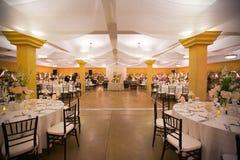Ślubny stołowy wystrój fotografia royalty free