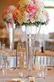 Ślubny stołowy wystrój obraz stock