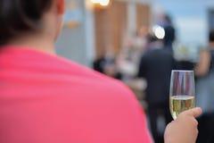 Ślubny szampański grzanki świętowanie Fotografia Stock