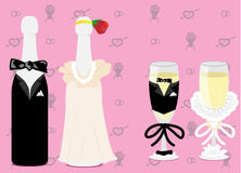 Ślubny szampan Obrazy Royalty Free