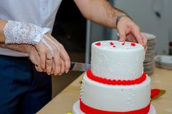 Ślubny tort zdjęcie stock