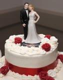 Ślubny tort Fotografia Stock