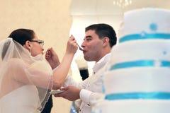 Ślubny tort obraz royalty free