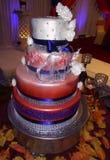 Ślubny tort przy Indiańskim ślubem Fotografia Royalty Free