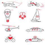 Ślubny transport royalty ilustracja