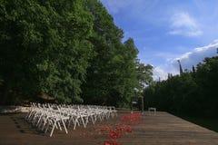 Ślubny ustawianie panny młodej ceremonii kwiatu ślub Zdjęcia Stock