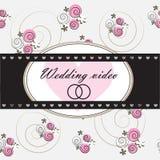 Ślubny wideo tło Zdjęcia Royalty Free