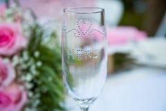 Ślubny wina szkło fotografia stock