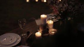 Ślubny wystroju stół zdjęcie wideo