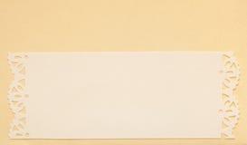 Ślubny zaproszenie karty papieru rozcięcia projekt Obrazy Stock