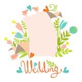 Ślubny zaproszenie karty szablon Obrazy Stock