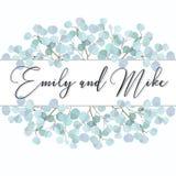 Ślubny zaproszenie, kwiecisty zaprasza dziękuje ciebie Zielonych greenery eukaliptusowych gałąź wianku ramy dekoracyjny wzór Zdjęcia Royalty Free