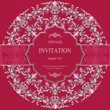 Ślubny zaproszenie lub karta z abstrakcjonistycznym tłem ilustracja wektor