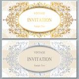 Ślubny zaproszenie lub karta z abstrakcjonistycznym tłem Zdjęcia Royalty Free