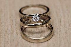 Ślubny zespół lub obrączka ślubna obrazy royalty free