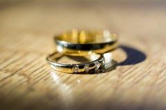 Ślubny zespół lub obrączka ślubna zdjęcia royalty free