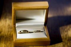 Ślubny zespół lub obrączka ślubna obraz stock