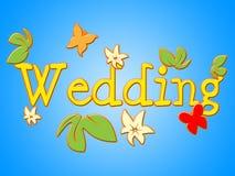 Ślubny znak Reprezentuje Dostaje Zamężnym I Komunikuje royalty ilustracja