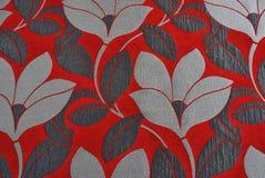 Śmiało coloured kwiecista tkanina Zdjęcia Royalty Free