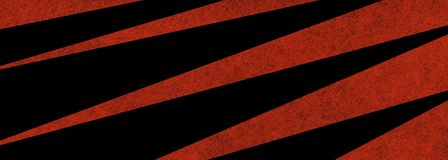 Śmiały dramatyczny graficznej sztuki tła projekt z długim trójbokiem kształtuje w zygzakowatym wzorze w lampasach czerwieni i cze Obrazy Stock